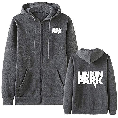 Linkin Park Pullover Classic Trend Mantel Persönlichkeit Mode T-Shirt College Wind Zipper Sweater Dünne Oberbekleidung Studenten Wilde Jacke lose Lange Ärmel dünne Frühling und Herbst Mantel Unisex