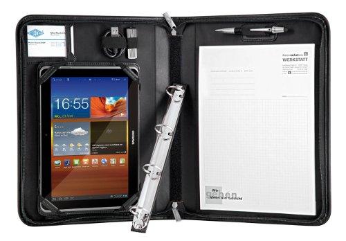Wedo 58594011 tab-organizer (A4 Elegance, dagmap voor Samsung Galaxy of tablet-pc, met 10,1 inch (25,7 cm) dipsplay, met uitneembaar ringmechanisme) zwart