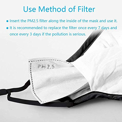 OUBA 20 PCS Activated Carbon Filters Meltblown Non-Woven Cloth 5 Layers Filters