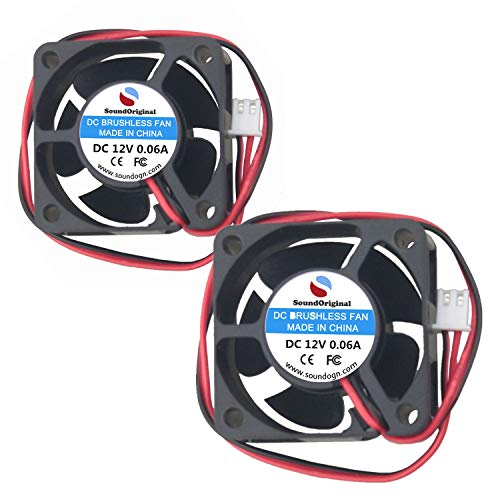 SoundOriginal 2pcs NF- 4020 Brushless DC Cooling Fan 12V 0.04~0.06A 40x40x20mm Speed 5000 RPM Fans for Computer Case Network and Storage Equipment (Routers, Switches, NAS etc Replacement) (12V 2pack)