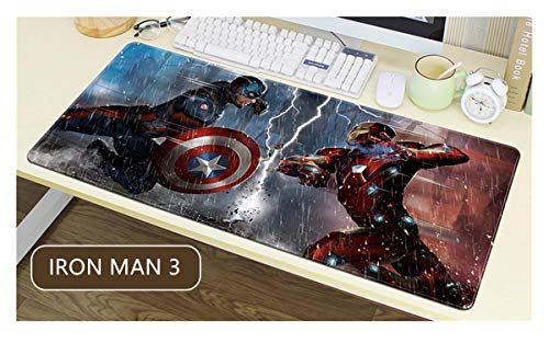 Junchen&Zhang Manwei Héroes Alfombrilla de ratón tamaño extendido - Ultra-Large Engrosado Impermeable (800 * 300 * 3MM/31.5 * 11.7 * 0.12inch, 3)