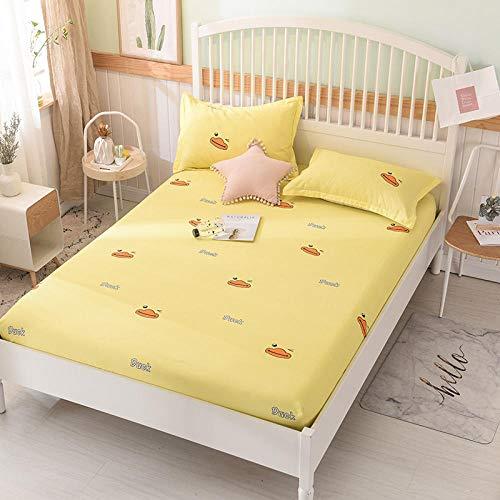 HPPSLT Protector de colchón/Cubre colchón Acolchado, Ajustable y antiácaros. Sábana de algodón Antideslizante de una Sola pieza-32_1.8 * 2m