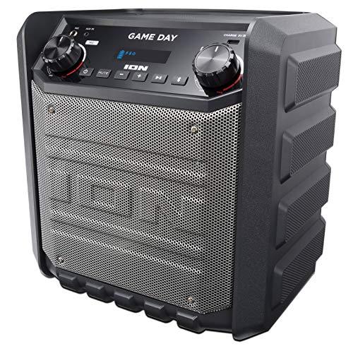 ION Audio Game Day Aufladbarer Outdoor-Lautsprecher mit Bluetooth-Streaming, USB-Ladeanschluss, Aux-Eingang und Mikrofon, 50W