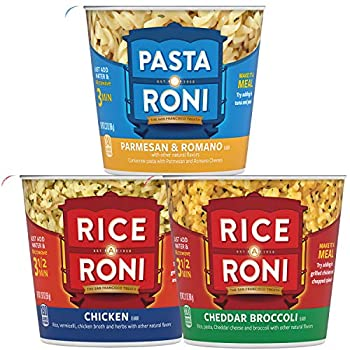 Quaker Rice a Roni Cups Individual Cup 3-Flavor Variety Pack 2.25 Oz  Pack of 12