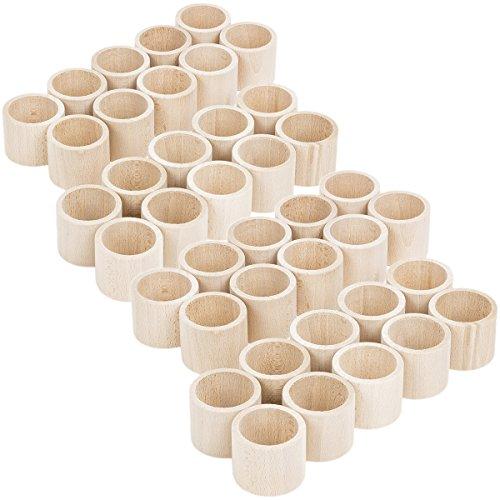 40 Stück gerade Form Holz Serviettenringe Hochzeits Tischaccessoires