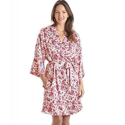 Conjunto de camisón y Bata Estilo Kimono - Estampado Floral - Rosa 42/44