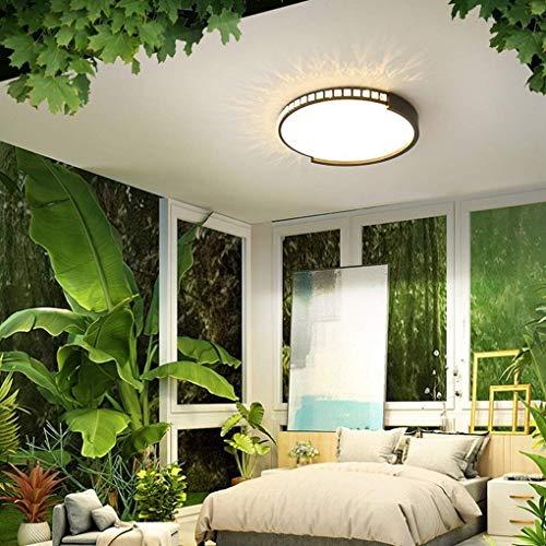 Moderne led-plafondlamp, woonkamer, minimalistisch, eetkamer, slaapkamer, studium, plafondlamp, moderne creatief acryl, metaal zwart, rond, decoratieve plafondlamp, dimbaar