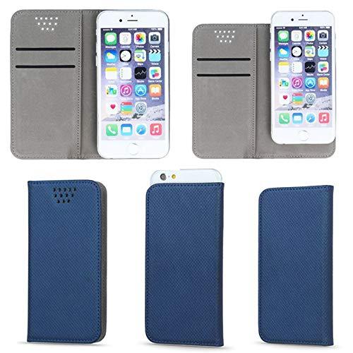 Supercase24 Book Case für Mobistel Cynus F9 Dual SIM Klapp Cover Schutzhülle Etui Handytasche Flip mit Smart Magnet in blau