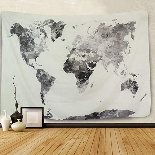 Acuarela Mapa del Mundo Tapiz Multi Splatter Pintura Abstracta Colgante Pared Arte Salón Dormitorio Decoración del Hogar