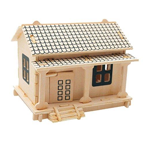 Bâtiment Modèle Puzzle Kids 3D drôles premiers jouets éducatifs, Brick House