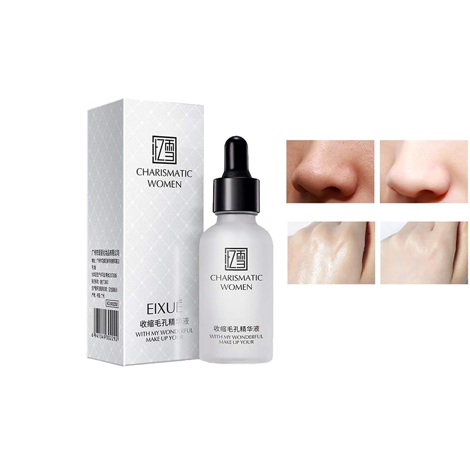 RedDhong Fine Pores Shrinking Essence, Moisturizing Balance Oil and Water, Improve Dry Rough Skin, Deep Cleansing Pore Minimizer Essence