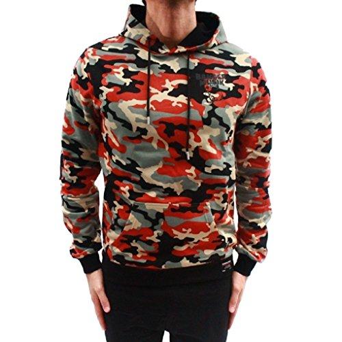 Banger Musik Hoodie Logo red Camouflage (M)