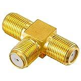 Bild des Produktes 'HB-DIGITAL TV-Splitter Sat-BK-Kabel Verteiler T-Adapter 2-Fach Splitter 2-Wege / 5-2400 MHz - digital & vergoldet - '