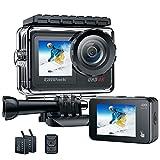 Action Cam 4K 24MP Videocamera WIFI Fotocamera Impermeabile Doppio Display 40M Sott'acqua Ultra HD Sports Camera WiFi 2.4G Telecomando Campark 170°Grandangolo con 2x1350mAh Batterie