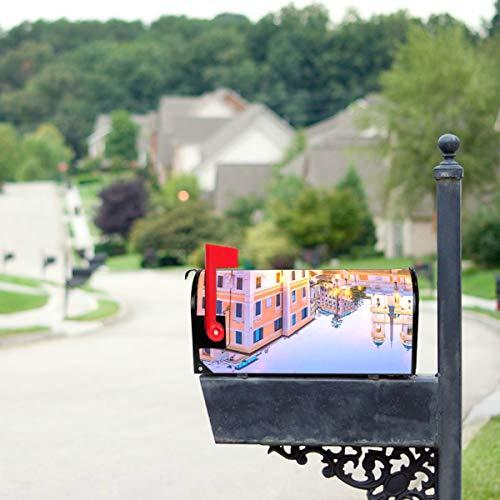 LONGYUU Antike große römische Architektur Standardgröße Original Magnetic Mail Anschreiben Briefkasten 21 x 18 Zoll Mailbo Covers dekorative Mailbox Covers Flagge Mailbox Cover
