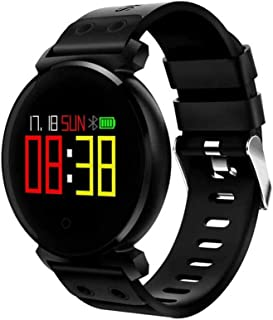GLJJQMY Smart Watch Touch Screen Outdoor Waterproof Smart Bracelet Plus Sports Pedometer Activity Heart Rate Monitor Fitness Tracker Simulation Display Message Reminder Step Counter Smart Bracelet