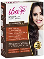 Iba Halal Care Hair Color, Dark Brown, 60g (Pack of 2)