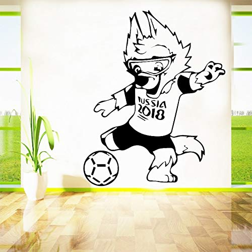BailongXiao Athlet Fußball Vinyl Wandaufkleber Kinderzimmer Dekoration Zubehör Wandaufkleber Junge Raumdekoration Abnehmbare Aufkleber 54x66 cm