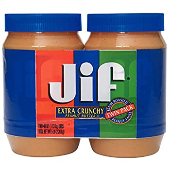 Jif Extra Crunchy Peanut Butter 40-Ounce  Pack of 2