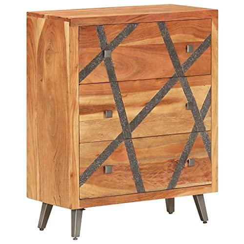 Anrichte Sideboard Mehrzweckschrank Highboard Schubladenkommode Flurschrank, für Diele, Wohnzimmer Esszimmer Diele, 60×30×75 cm Akazie Massivholz