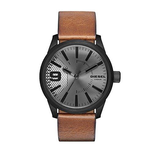 Diesel Hombre (Unisex) -Reloj de Pulsera de Cuarzo con Correa en Cuero DZ1764