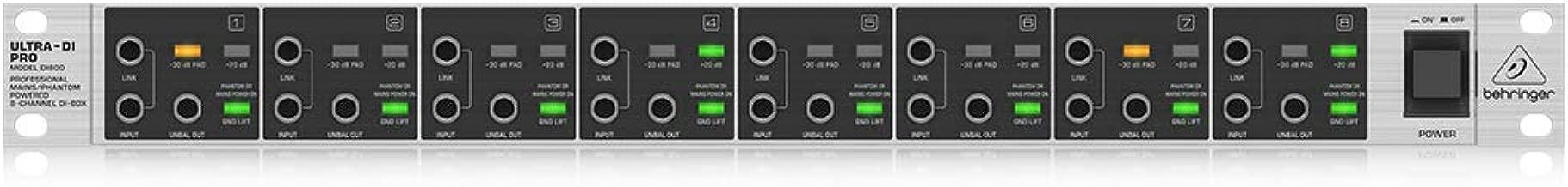 Behringer Ultra-DI Pro DI800 Professional Mains/Phantom Powered 8-Channel DI-Box