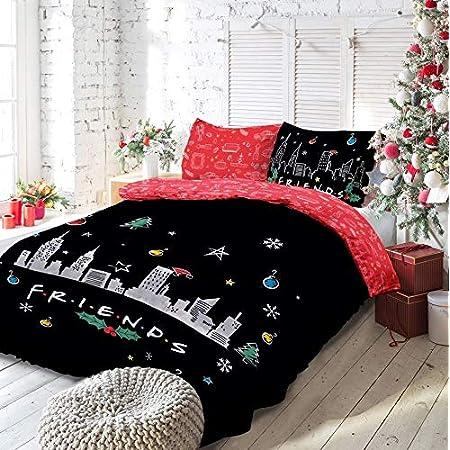 Warner Brother Parure de lit réversible avec Housse de Couette et taies d'oreiller pour lit King Size (220 x 230 cm)