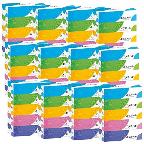 大王製紙 エリエール ティッシュ 180組×60箱 5箱×12パック パルプ100%