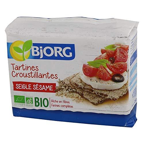 Bjorg Tartines croustillantes Seigle Sésame Bio - Farines complètes - 250 g