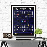 QZROOM Póster Impresión de Videojuegos Retro Gaming Lienzo Pintura Juego de Arcade Geek Posters Niños Arte de la Pared Decoración de la Pared Sala de Juegos Decoración-40x60cm-Sin Marco