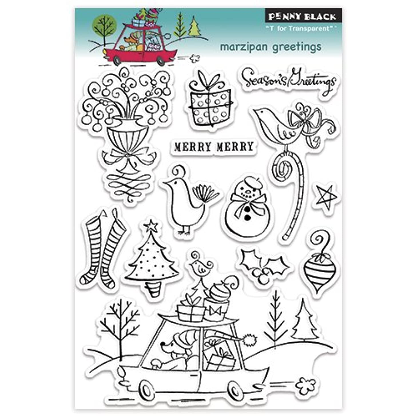 Penny Black 30-126 Marzipan Greetings Clear Stamp