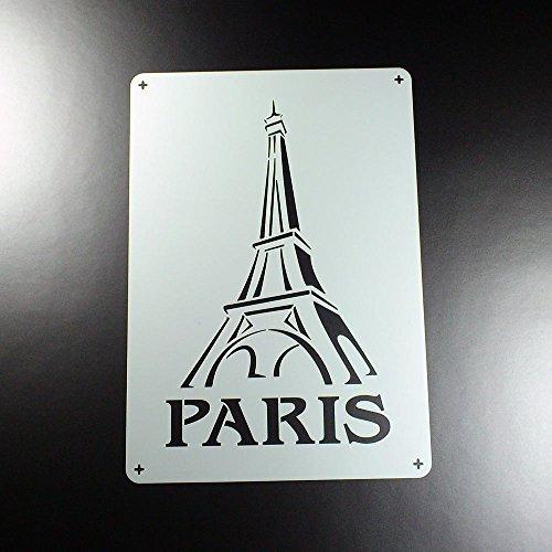 Schablone Paris Schriftzug Eiffelturm - BS04