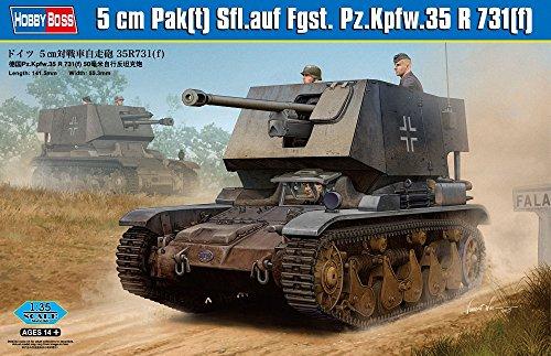 Maquette 5 cm Pak(t) Sfl.auf Fgst.Pz.Kpfw.35 R731