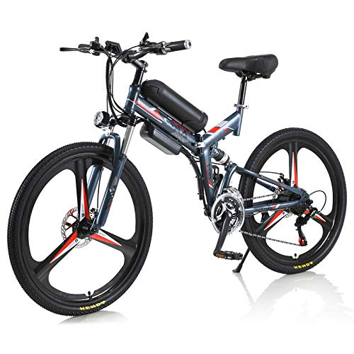 Bicicleta eléctrica Hyuhome 350W 36V Bicicleta de montaña eléctrica para Adultos, Bicicleta...