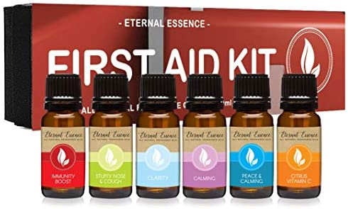 First Aid Kit Gift Set Of 6 All Natural Fragrance Oils Immunity Boost Stuffy Nose Cough Clarity product image