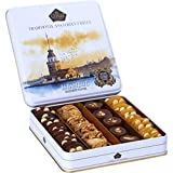 Cerez Pazari Holiday Nut and Fruit Gift Metal Box, Gourmet Healthy Food Gift for Christmas, Easter, Mothers & Fathers Day, Corporate, Birthday Fruit Gift Box Assortment 650gr