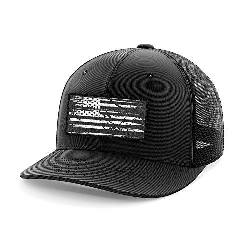 Tactical Pro Supply American Flag Flexfit Hat-USA Cap White Flag Black (Large/X-Large)