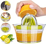 Yimobra Citrus Lemon Orange Juicer Manual Hand Squeezer Lime Press with Strainer Built-in Measuring...