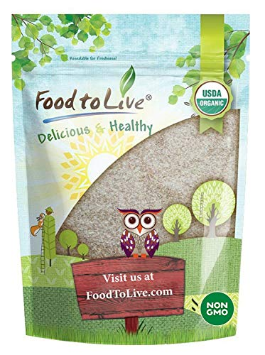 Food to Live Organic Psyllium Husk Powder (Non-GMO, Raw, Kosher, Ultra Fine, Unsweetened, Unflavored, Rich in Fiber, Natural Food Thickener, Great for Baking, Bulk) — 1 Pound
