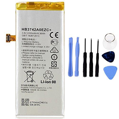 Generico Batería de alta capacidad 2200 mAh compatible con Huawei P8 Lite HB3742A0EZC + con kit de herramientas incluido