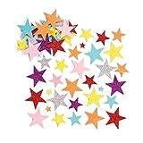 Baker Ross Schaumstoff-Aufkleber -Glitzernde Sterne - 150 Stück