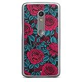 DeinDesign Coque Compatible avec Motorola Moto X Play Étui Housse Roses Floraison Nature