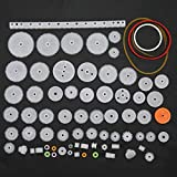 Hztyyier 60pcs Corona dentata in plastica Singola Set Ingranaggi a Vite Senza fine con Riduttore Doppio per Giocattolo di Modello del Cambio del Motore del Robot di DIY