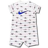 (Nike)ナイキ ベビー カイリー ロンパース Nike Infant Romper ベビー服 赤ちゃん (白青赤, 9M (6-9ヶ月頃 68-74cm)) [並行輸入品]