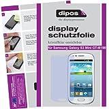dipos I 6X Schutzfolie klar kompatibel mit Samsung Galaxy S3 Mini i8190 Folie Displayschutzfolie