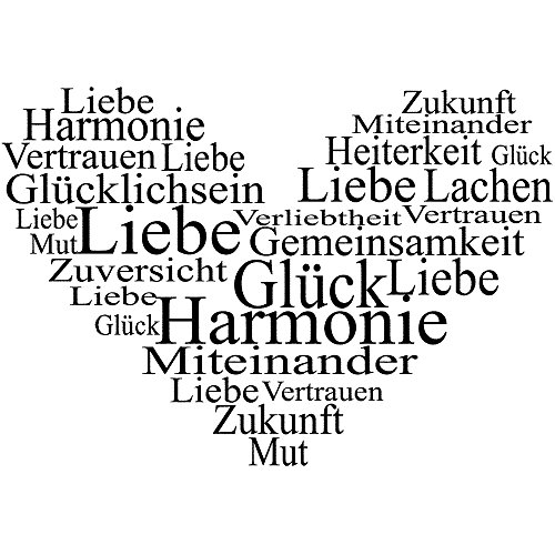 Rayher - 2873000 - Stempel ,  Herz - Liebe,Glück, Harmonie ...,5x7 cm