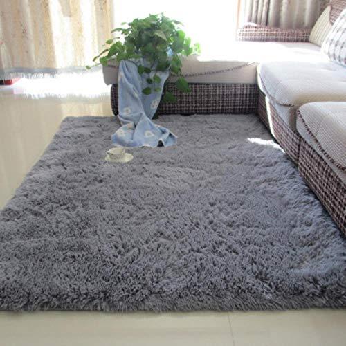 Alfombra antideslizante de lana de seda lavada engrosada sala de estar mesa de café manta dormitorio almohadilla de noche alfombra de yoga, 120x200cm