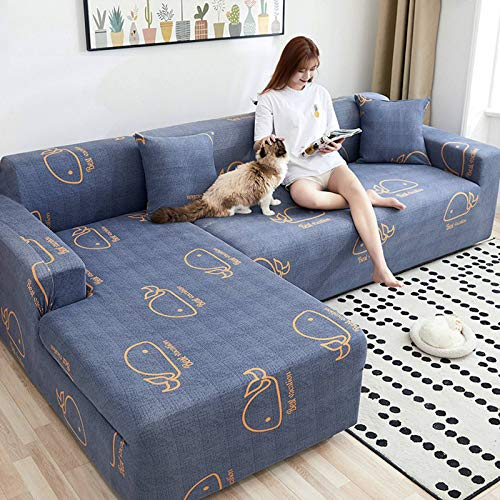 HKPLDE Sofa Cover Stretch Printed Couch Cover For 3 Seater Cushion Couch Furniture Pet Protector Anti-Slip Stylish Spandex Cover-F-3 seater(190-230cm)
