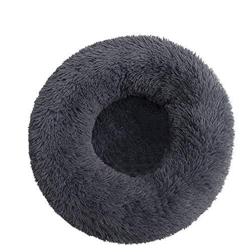 Wandskllss La suave cama redonda para gatos y perros es adecuada para gatos y cachorros de tamaño mediano con donas redondas u ovaladas (D/XL 70 cm)