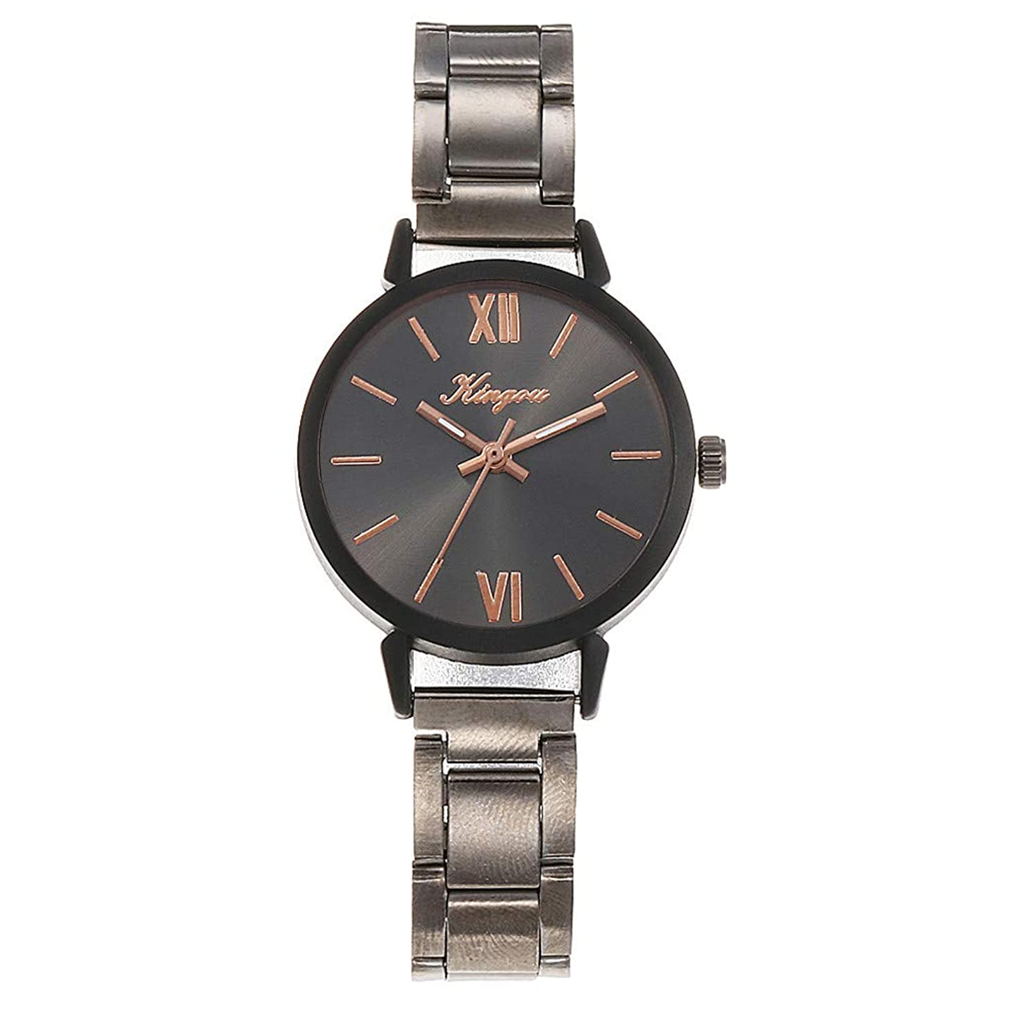 LUCAMORE Hot Sale Classic Stainless Steel Quartz Women Wrist Watch with Stainless Steel Bracelet